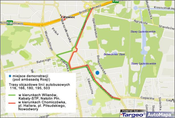 Utrudnienia spowodowane protestem targeo.pl /tvn24