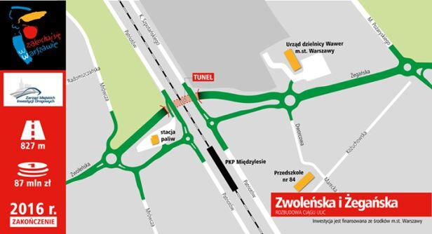 Budowa tunelu w Międzylesiu UM Warszawa
