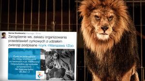 Warszawa już oficjalnie nie chce zwierząt w cyrkach