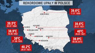Rekordy ciepła w Polsce. Zobacz, gdzie i kiedy było najcieplej