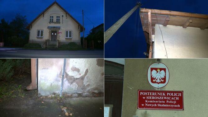 W komisariat policji w Wielkopolsce uderzył piorun