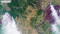 Pożar trawi syberyjskie lasy (PAP/EPA/ROSCOSMOS HANDOUT)