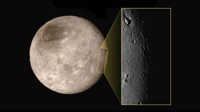 """""""Mordor"""" na Charonie i lodowe góry na Plutonie"""
