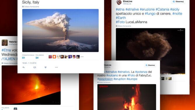"""Przebudzenie Etny. Lawa wylewała się z """"leniwego, ale gwałtownego"""" krateru"""