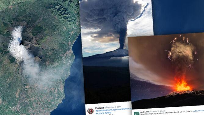 Wulkan Etna wciąż dymi. Sycylia sparaliżowana