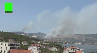 Pożary w Chorwacji w rejonie Trogiru