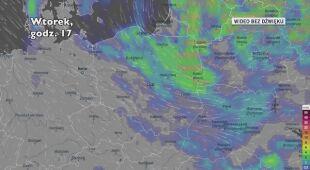 Opady deszczu w ciągu kolejnych pięciu dniu (Ventusky.com)